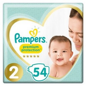 Couches T2 4/8kg Pampers premium protect x54
