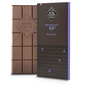 Tablette de Chocolat Grand Lait 45% de cacao